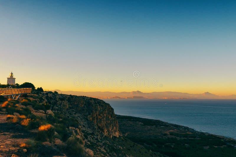 Lighthouse Santa Pola royalty free stock image