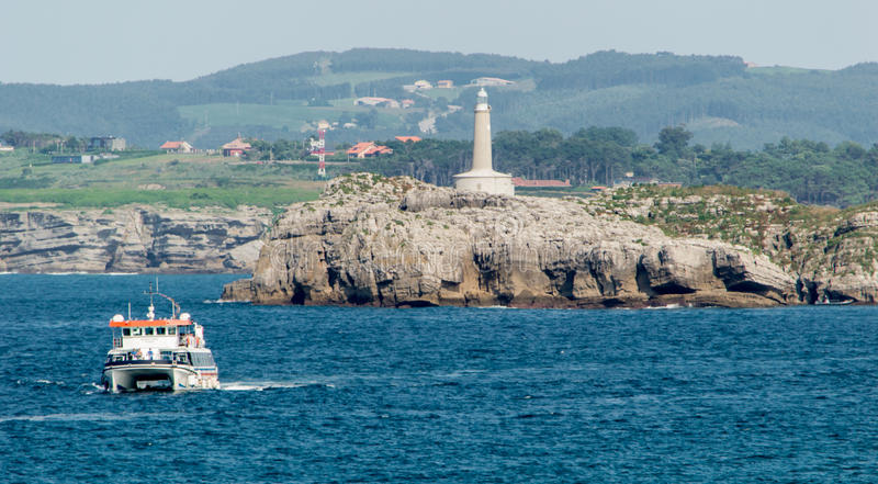 Lighthouse in Santander, Cantabria, Spain royalty free stock images