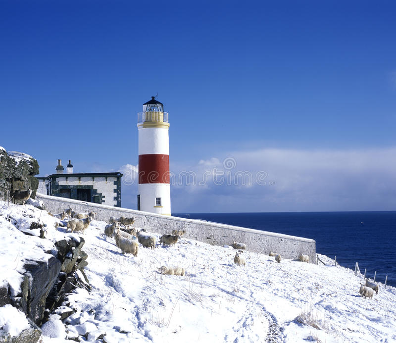 Download Lighthouse, Scotland stock image. Image of outdoors, clyth - 12647673