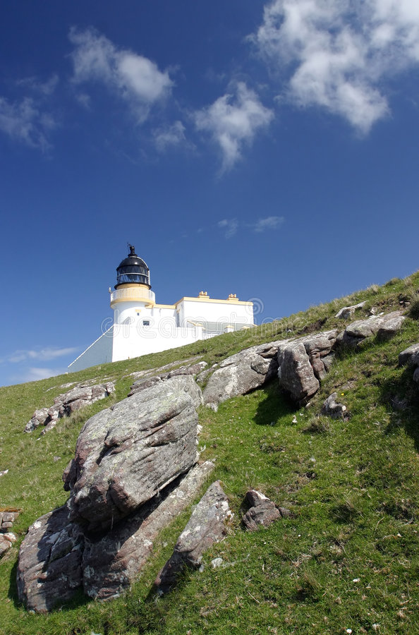 Download Lighthouse, Scotland stock image. Image of building, clouds - 51015
