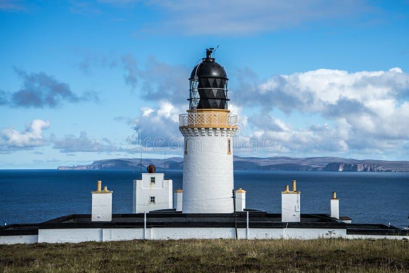 Lighthouse at scottish coast royalty free stock photo