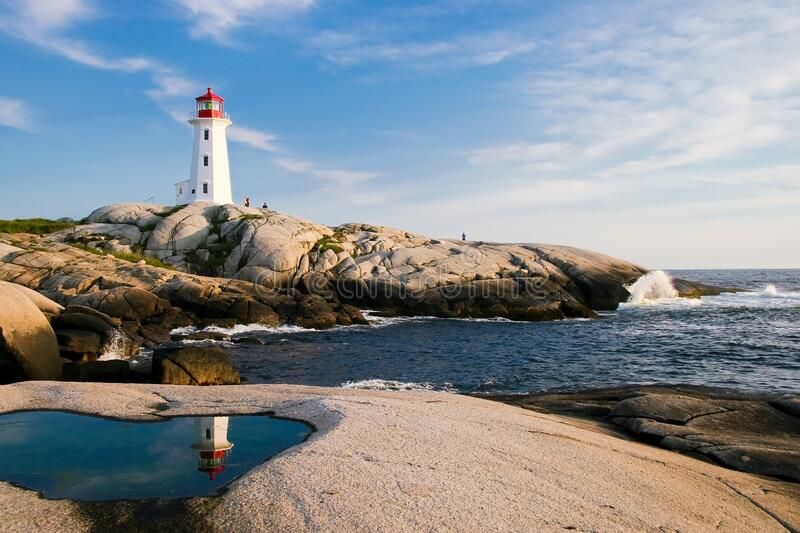 Lighthouse by Sea Against Sky royalty free stock photo
