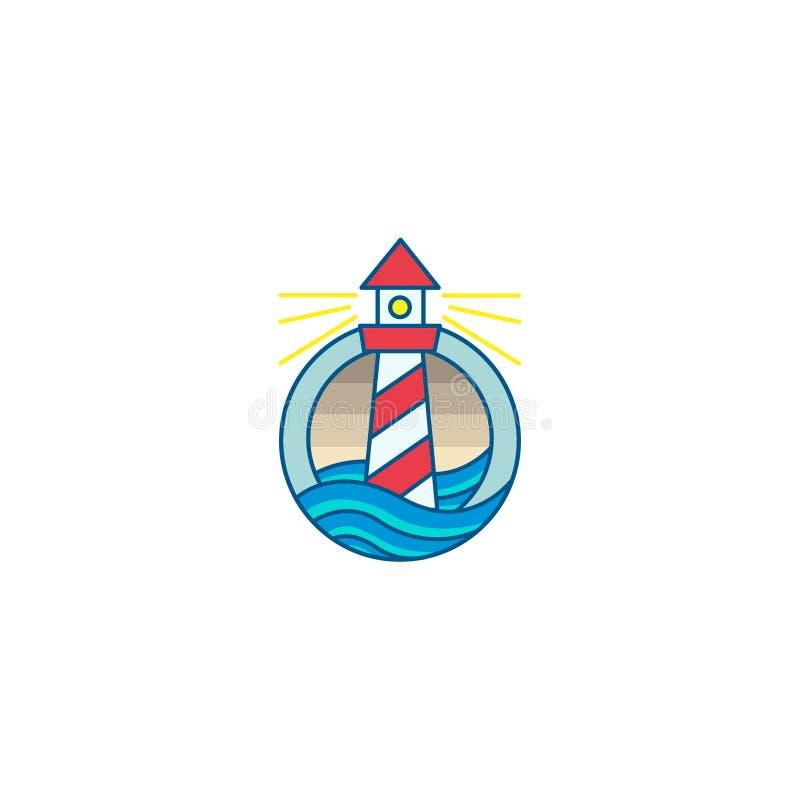 LIGHTHOUSE SEA ICON LOGO VECTOR TEMPLATE vector illustration