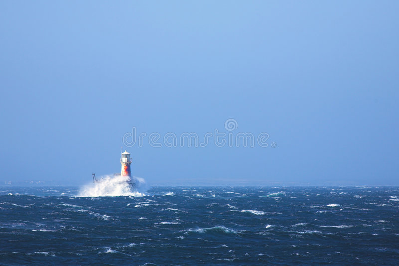 Lighthouse in the sea at Simons Town royalty free stock photos
