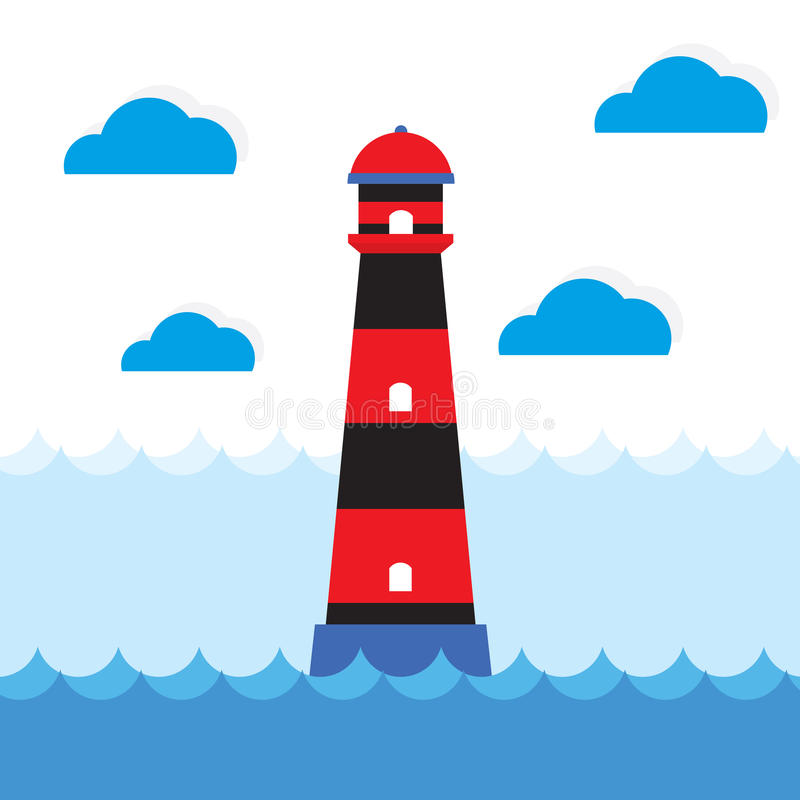 Download Lighthouse stock vector. Illustration of lamp, blue, nature - 39507832