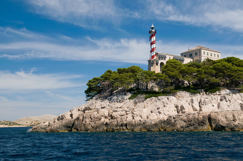 Lighthouse Sestrice stock images