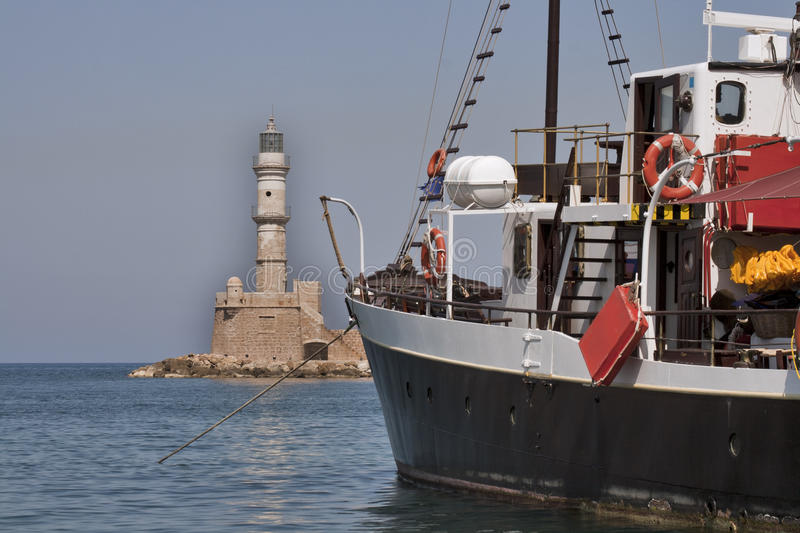 Download Lighthouse And Ship Royalty Free Stock Photo - Image: 23583005