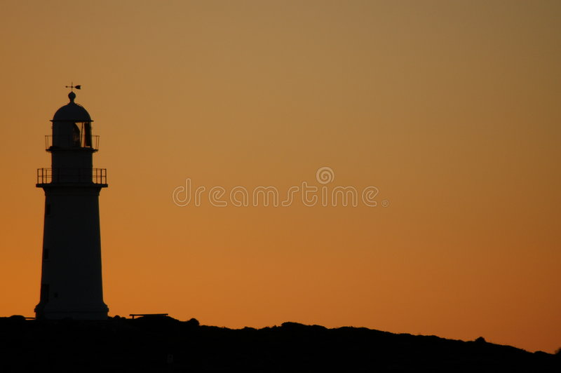 Lighthouse Silhouette royalty free stock image