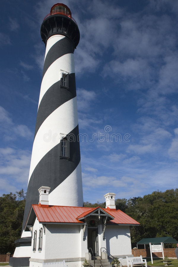 Lighthouse in St. Augustine stock image