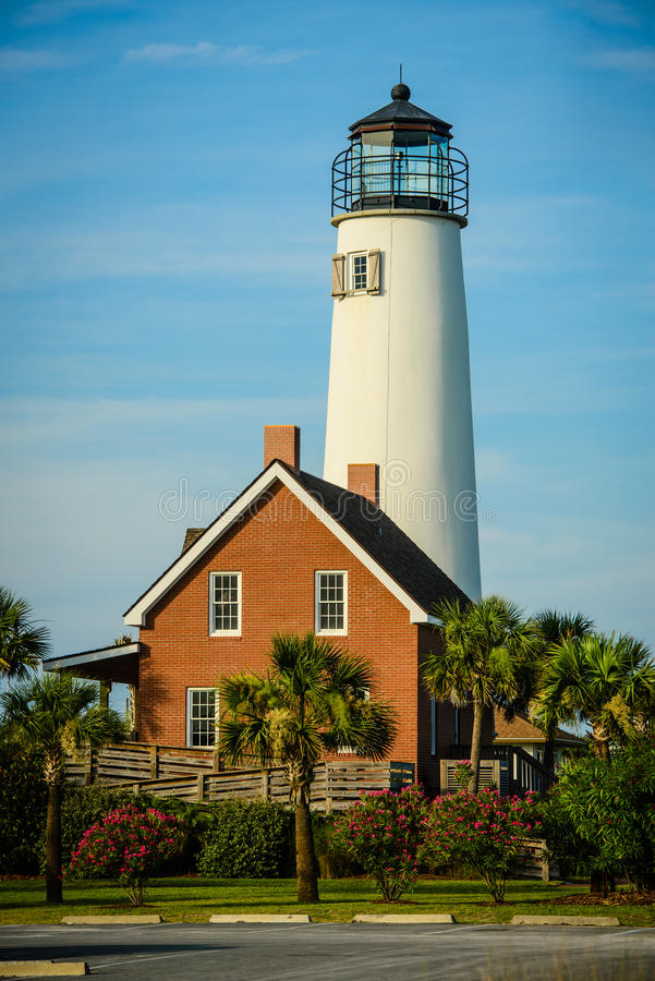 Lighthouse at St. George Island, Florida stock photos