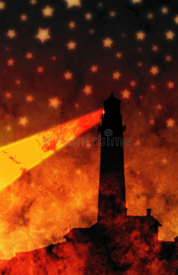 Download Lighthouse and stars stock illustration. Image of guardian - 10875892