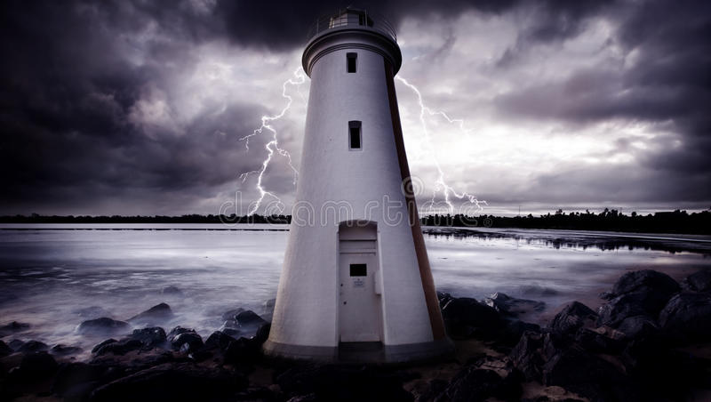 Download Lighthouse Storm stock photo. Image of clouds, mental - 16125322