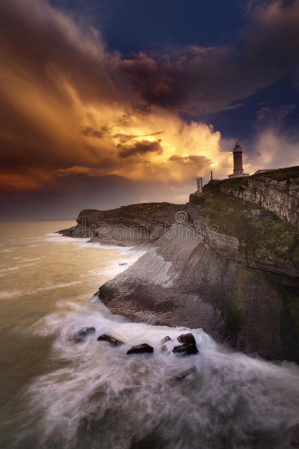 Download Lighthouse after the storm stock image. Image of light - 18398735