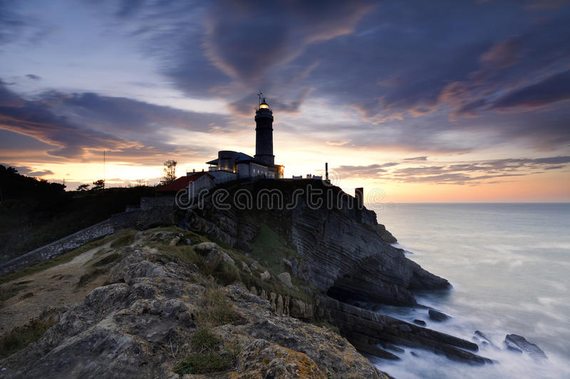 Lighthouse after the storm stock image