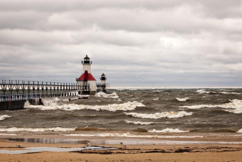 lighthouse stormy στοκ φωτογραφία με δικαίωμα ελεύθερης χρήσης