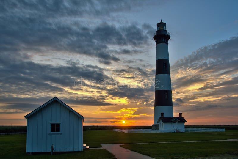 Lighthouse sunrise royalty free stock images