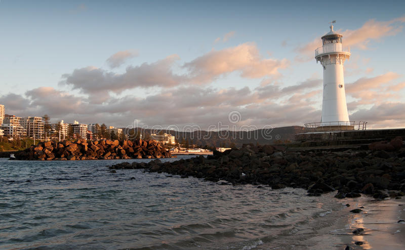 Lighthouse Sunrise At Wollongong Royalty Free Stock Photography