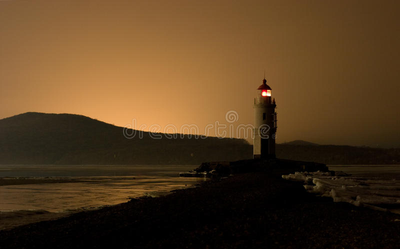 Download Lighthouse after sunset stock image. Image of sunset - 19346253