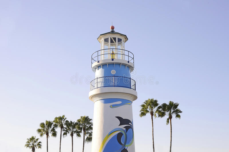 Lighthouse in sunset light in Orlando royalty free stock photography