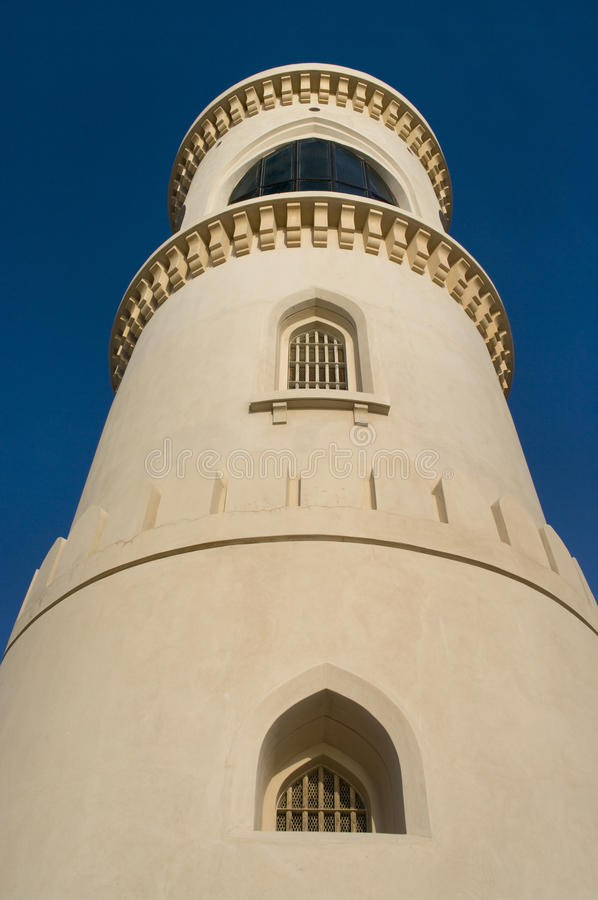 Lighthouse at Sur. royalty free stock images