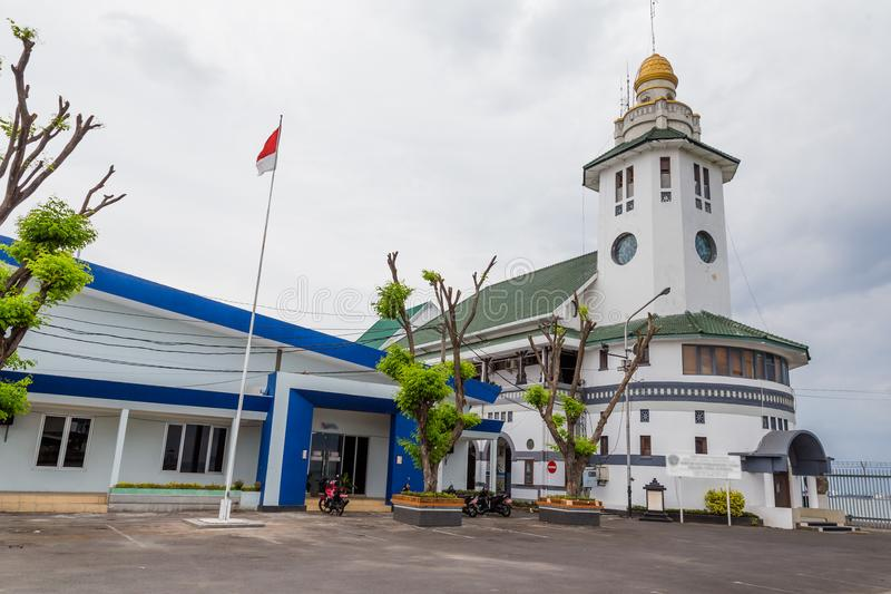 Lighthouse in Surabaya, Indonesia. Ancient lighthouse in the harbor of Surabaya, Indonesia stock images