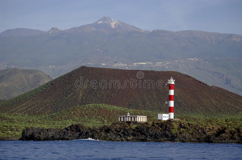 A lighthouse in Tenerife (Faro de Rasca). royalty free stock image