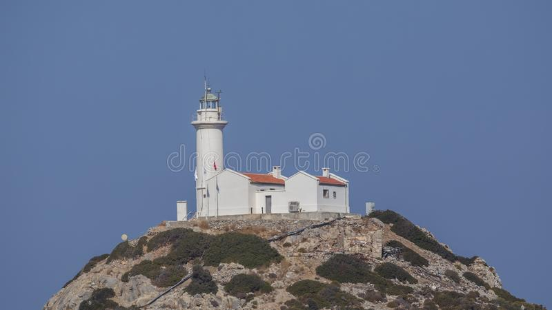 Lighthouse on Top of Hill stock image