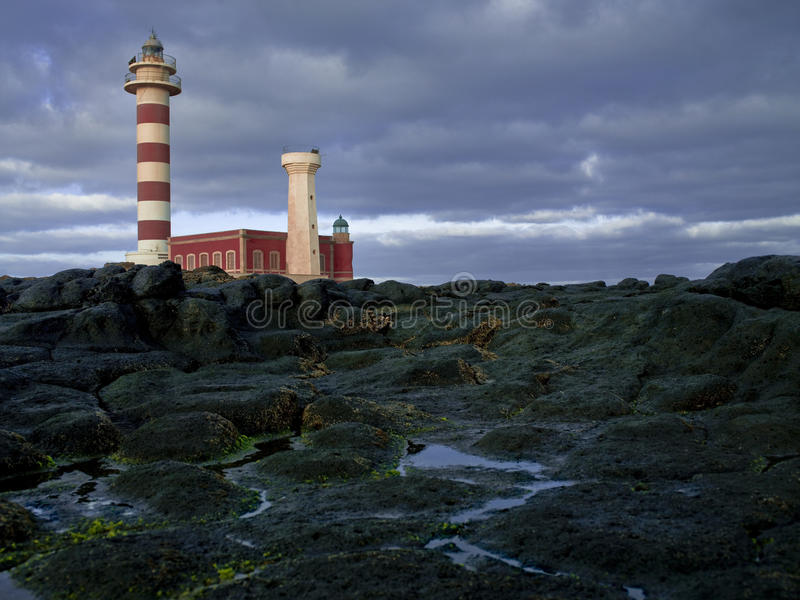 Lighthouse Tost�n Canary Islands Fuerteventura stock images