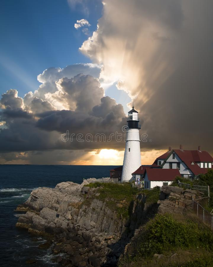 Lighthouse, Tower, Sky, Sea stock photos