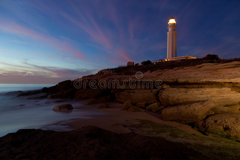 Lighthouse Of Trafalgar, Cadiz Stock Photo