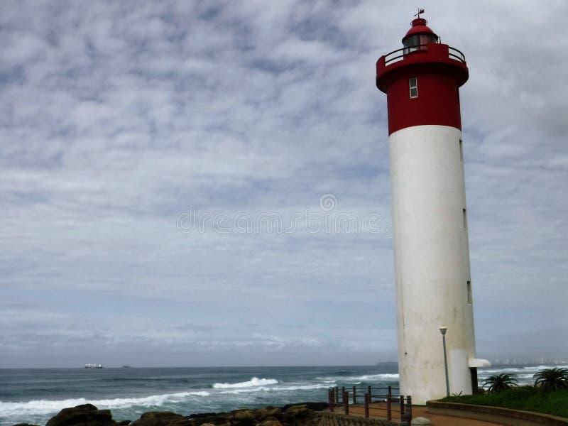 Lighthouse at Umhlanga royalty free stock photos