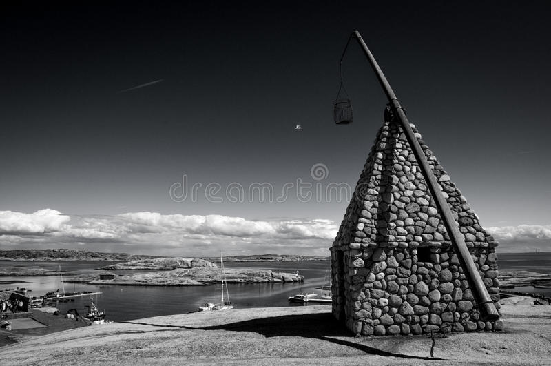 The lighthouse at Verdens End, Norway royalty free stock image