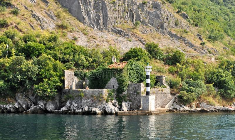 The lighthouse at Verige strait royalty free stock photos