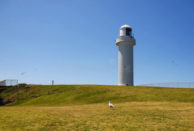 Lighthouse. View of Lighthouse at Wollongong, NSW Australia royalty free stock photos