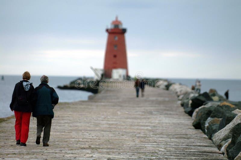 Download Lighthouse walk stock photo. Image of lighthouse, glassy - 186530