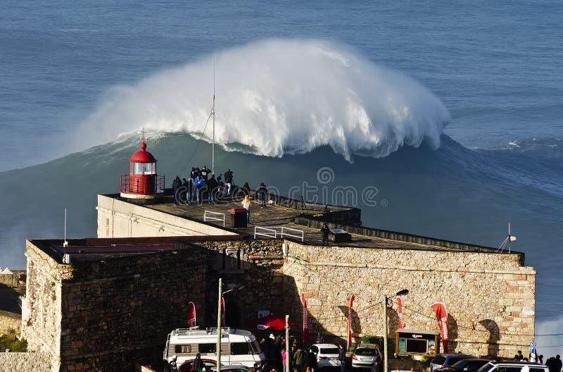 Lighthouse Wave stock photos