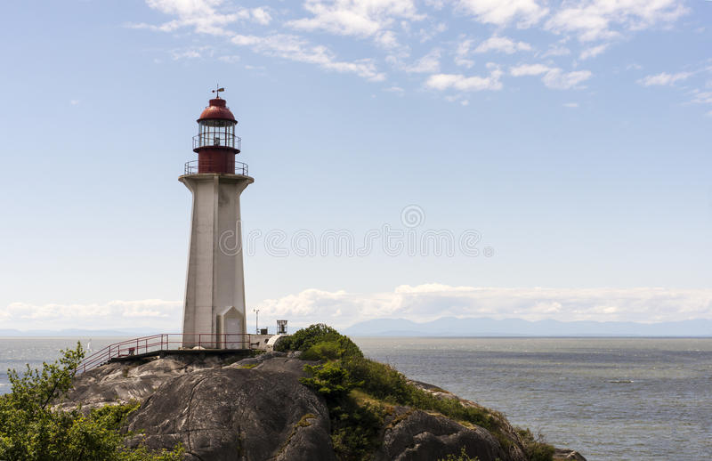 Lighthouse. In West Vancouver, Canada royalty free stock photos