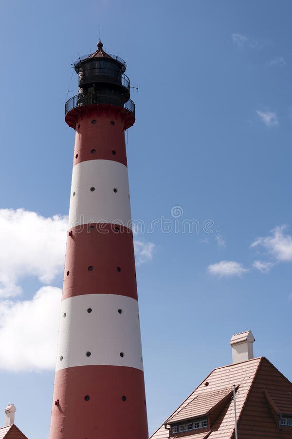 Download Lighthouse Westerheversand In Westerhever Stock Photo - Image: 91240426