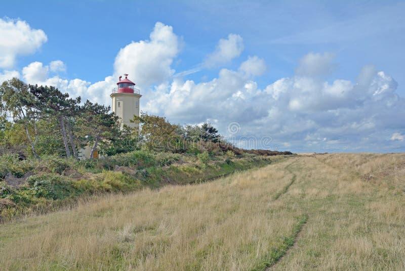 Lighthouse,Westermarkelsdorf,Fehmarn,Germany stock photo