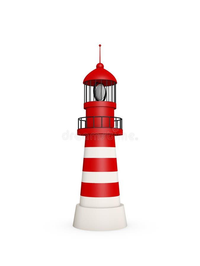 Lighthouse on white background stock illustration
