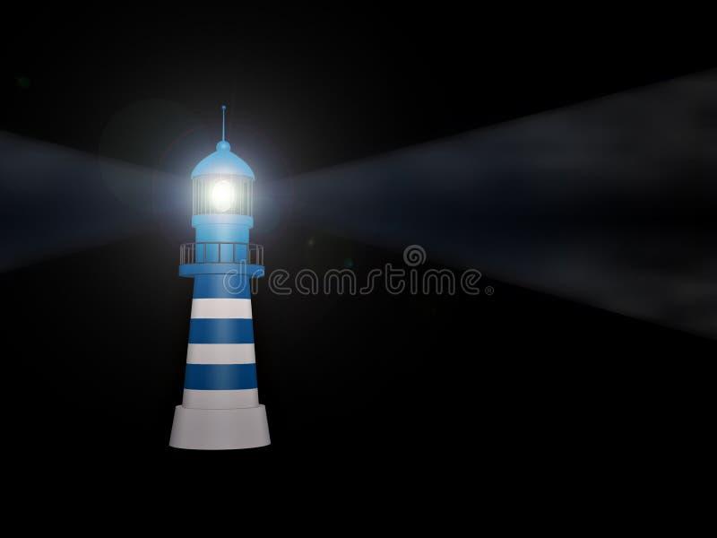 Lighthouse on white background royalty free illustration