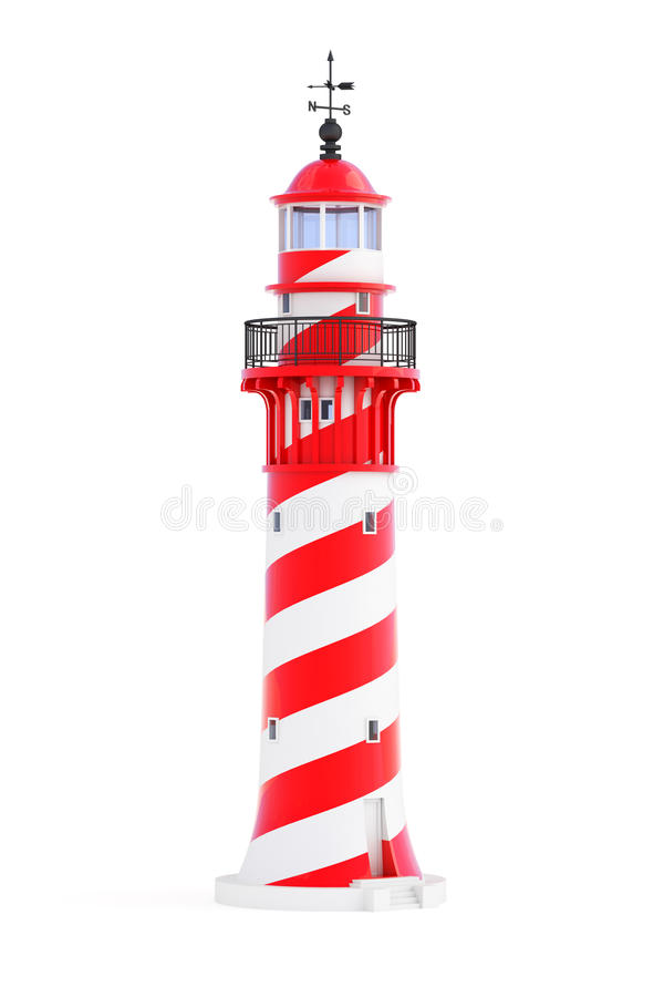 Download Lighthouse On White Background Stock Illustration - Image: 32421824
