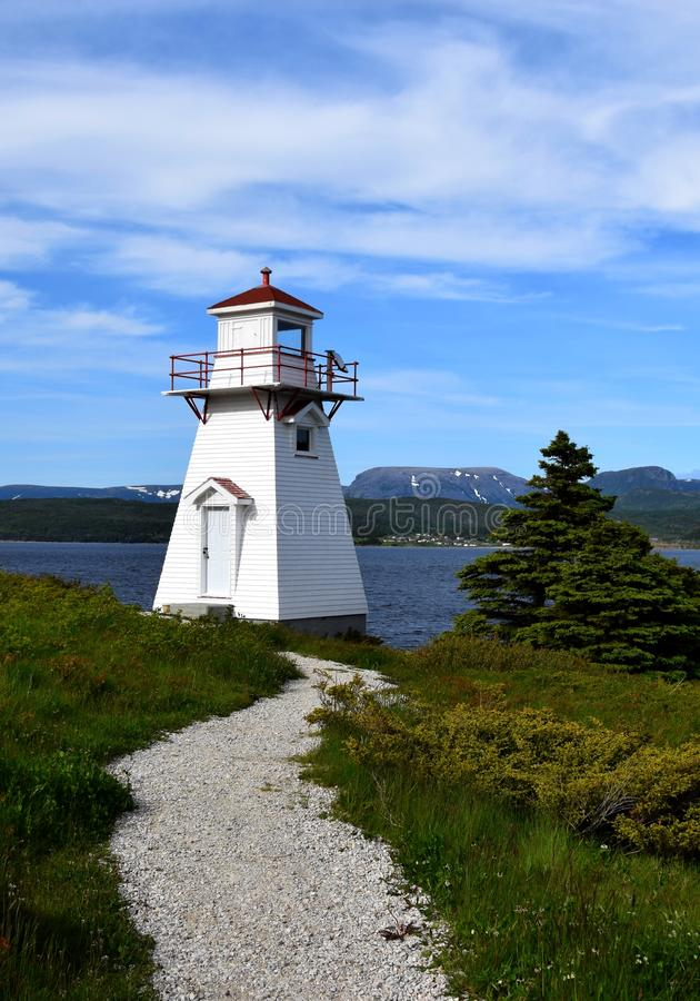 Lighthouse in Woody Point, Gros Morne National Park royalty free stock photography
