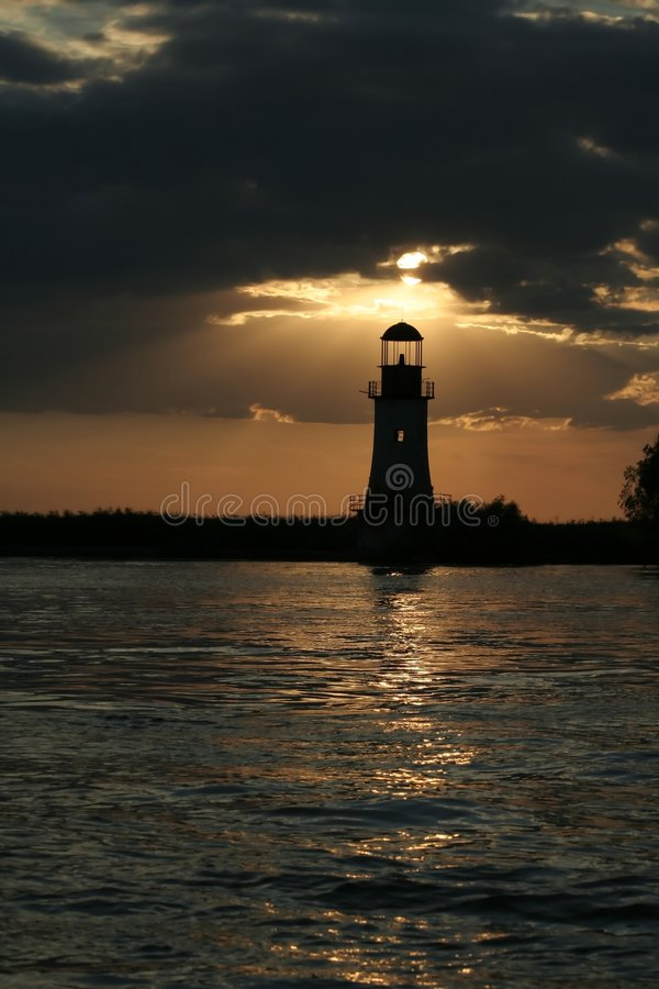 The lighthouse is working once again royalty free stock image