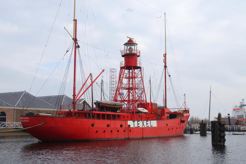 Lighthouseboat Texel fotos de stock