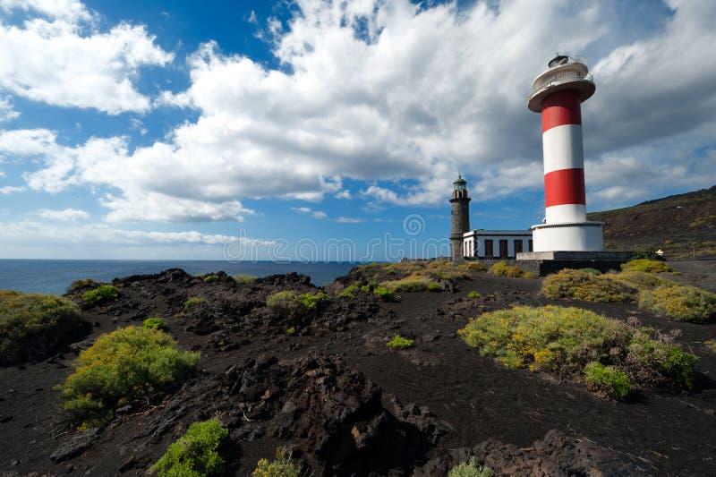 Lighthouses, Punto de Fuencaliente, La Palma royalty free stock images