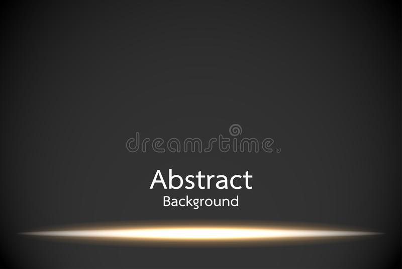 Gold Glow light effect vector illustration