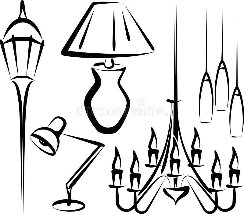 Download Lighting stock vector. Image of light, energy, house - 17385361