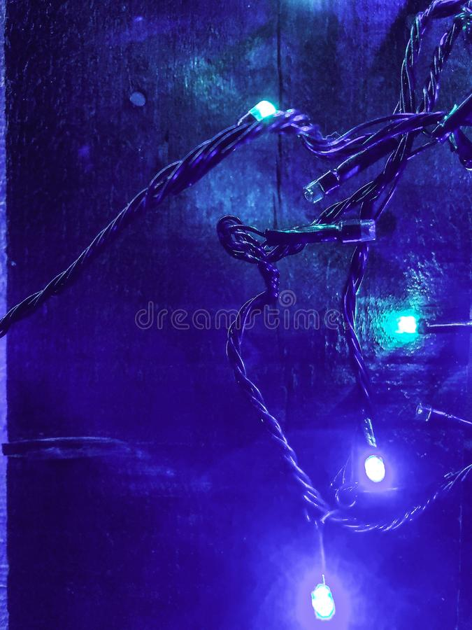 Lighting in blue shades royalty free stock photography
