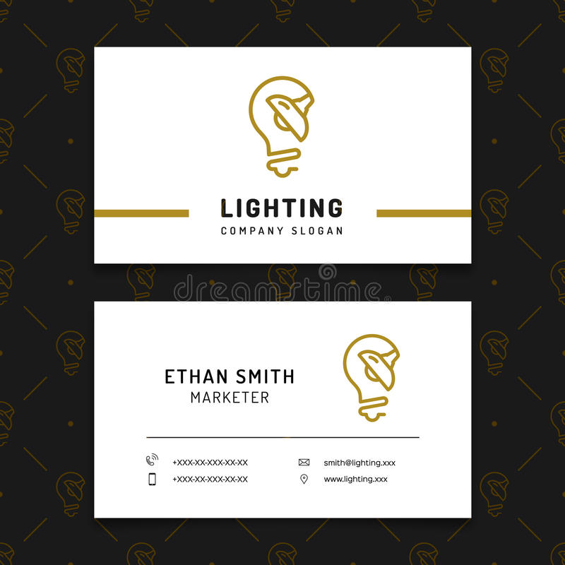Lighting business card template lamp shop layout electricals download lighting business card template lamp shop layout electricals factory stock vector illustration reheart